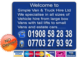 cheap van hire in milton keynes